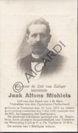 Doodsprentje Jaak Alfons Michiels °1874 Tremelo †1941  (B228) - Obituary Notices