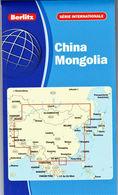 CARTE CHINE - MONGOLIE 1:4 000 000 - BERLITZ - Légende En 8 Langues - Cartes Routières
