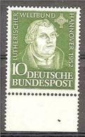 1952 GERMANIA GERMANY CONGRESSO LUTERANO HANNOVER LUTHERAN CONGRESS Serie MNH** Con Bordo - Teologi