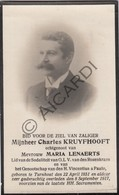 Doodsprentje Charles Kruyfhooft °1851 Turnhout †1917 Echtg. Maria Lenaerts (B226) - Obituary Notices