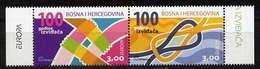 Bosnien-Herzegowina (kroatisch) / Bosnia-Herzegowina (croatian Post) / Bosnie-Herzégovine Mostar Paar/pair 2007 EUROPA** - Europa-CEPT