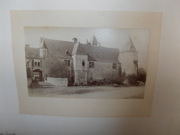 PHOTOGRAPHIE  Très  Ancienne  Du    Château  De    CHEMERY -     Cliché  LEMAIRE -  N1 - France