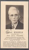 Doodsprentje Emiel Engels °1874 Herenthout †1953 Echtg. Maria Joanna Taeymans  (B223) - Obituary Notices
