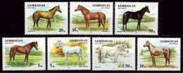 AZERBAIJAN 1993 - CABALLOS - CHEVAUX - HORSES - YVERT Nº 87-93** - Azerbaïjan