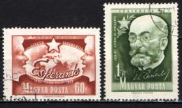 UNGHERIA - 1957 -70° ANNIVERSARIO DELL'ESPERANTO - DR. ZAMENHOF - USATI - Posta Aerea