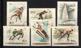 UNGHERIA - 1955 - CAMPIONATO EUROPEO DI PATTINAGGIO SUL GHIACCIO - USATI - Posta Aerea