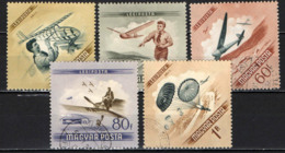 UNGHERIA - 1954 - GIORNATA DELL'AVIAZIONE - USATI - Posta Aerea
