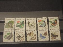 AUSTRALIA - 1983 FARFALLE 10 VALORI - NUOVI(++) - 1980-89 Elizabeth II