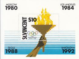 1988 St. Vincent Olympics Seoul Korea Complete Set Of 1 Souvenir Sheet MNH - St.Vincent (1979-...)