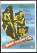 Carte Postale - Illustration : Grinsson (cinéma Affiche Film Western) L'Homme Aux Colts D'Or (R Widmark H Fonda A Quinn) - Affiches Sur Carte