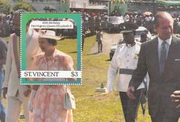 1986 St. Vincent QEII Birthday Complete Set Of 1 Souvenir Sheet MNH - St.Vincent (1979-...)