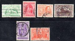 APR1088 - NEW NUOVA ZELANDA 1919 , Serie  Yvert  N. 169/174  Usato (2380A) Vittoria - 1907-1947 Dominion