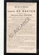 Doodsprentje Louis De Naeyer °1828 †1902 Willebroek - Burgemeester Willebroek Echtg. Alida Peeters (B181) - Obituary Notices