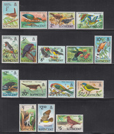 1970 St. Vincent Birds Oiseaux Definitives  Complete Set Of 16 MNH - St.Vincent (1979-...)