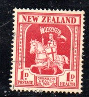 APR1090 - NEW NUOVA ZELANDA 1934 ,   Yvert  N. 192  Linguellato  * (2380A) Cavaliere - 1907-1947 Dominion