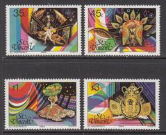 1984 St. Vincent  Carnival Festivals Culture Costumes Complete Set Of 4 MNH - St.Vincent (1979-...)
