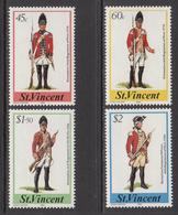 1984 St. Vincent Military Uniforms Complete Set Of 4 MNH - St.Vincent (1979-...)