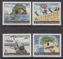 1984 St. Vincent Fort Duvernette Ships Cannon Maps Complete Set Of 4 MNH - St.Vincent (1979-...)