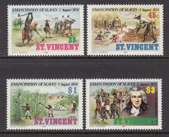 1984 St. Vincent Abolition Of Slavery Racism  Complete Set Of 4 MNH - St.Vincent (1979-...)