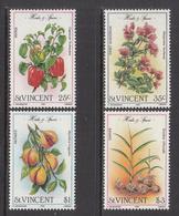 1985 St. Vincent Herbs Spices Nutmeg Ginger  Complete Set Of 4  MNH - St.Vincent (1979-...)