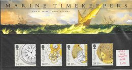Art Horlogerie Harrison - Grande-Bretagne N°1660 à 1663 Pochette Luxe 1993 ** - Arts