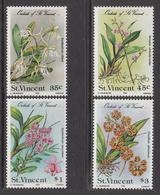 1985 St. Vincent Orchids Fleurs  Complete Set Of 4  MNH - St.Vincent (1979-...)