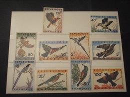 RWANDA - 1967 UCCELLI 10 VALORI - NUOVI(++) - Rwanda