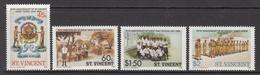 1986 St. Vincent  Cadet Force Girls High School Education Complete Set Of 4  MNH - St.Vincent (1979-...)