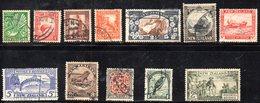 APR1099 - NEW NUOVA ZELANDA 1935 ,  12 Valori Usati (2380A)  Ordinaria - Usati