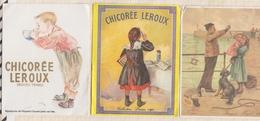 9AL1252 Lot De 3 Petits Camendriers CHICOREE LEROUX  1982 - 1983 - 1984   2 SCANS - Calendars
