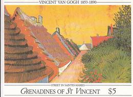 1991 St. Vincent  Grenadines Van Gogh Art Paintings Complete Set Of 4 Souvenir Sheets Complete MNH - St.Vincent & Grenadines