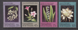 1984 St. Vincent  Grenadines Night Flowers Fleurs Complete Set Of 4  MNH - St.Vincent & Grenadines