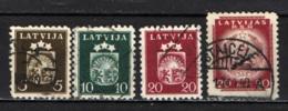 LETTONIA - 1941 - STEMMA DELLA REPUBBLICA SOCIALISTA SOVIETICA - USATI - Latvia