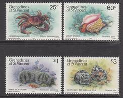 1985 St. Vincent  Grenadines Crabs Shellfish  Complete Set Of 4  MNH - St.Vincent & Grenadines