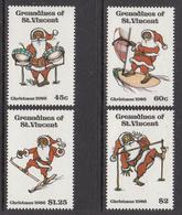 1986 St. Vincent  Grenadines Christmas Noel Navidad Music Steel Drums Dancing Complete Set Of 4  MNH - St.Vincent & Grenadines