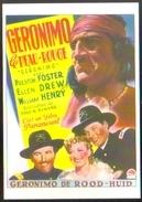Carte Postale (cinéma Affiche Film Western) Geronimo Le Peau-rouge (Preston Foster) - Affiches Sur Carte