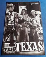"""Frank Sinatra, Dean Martin, Anita Ekberg, Ursula Andress > """"4 Für Texas"""" > Altes NFP-Filmprogramm '1964 (fp238) - Zeitschriften"""