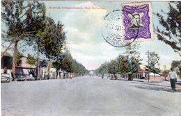 RARE SALVADOR SAN SALVADOR AVENIDA INDEPENDENCIA STAMP 1914 (2) - El Salvador
