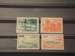IRAN - 1954 PESCA/PESCI 4 VALORI - NUOVI(++) - Iran