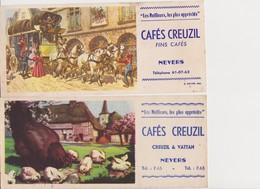 7 Buvards Cafés CREUZIL , Fins Cafés .NEVERS - Coffee & Tea