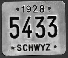 Velonummer Schwyz SZ 28 - Plaques D'immatriculation