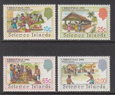 1991 Solomon Islands Christmas Cricket Food Complete Set Of 4 MNH - Salomoninseln (Salomonen 1978-...)