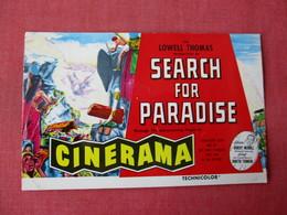 Cinerama  Search For Paradise Warner Theatre Washington DC      Ref 3365 - Advertising