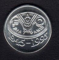 100 Lei Silver 92,5% / 1995 / 50 Years FAO / 27 G, 37 Mm - Romania