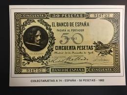 Billetes ESPAÑA - Monnaies (représentations)