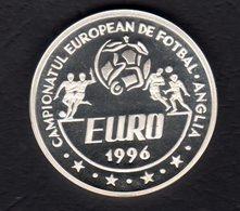 100 Lei Silver 92,5% / 1995 / Euro 1996 - England / 27 G, 37 Mm - Romania