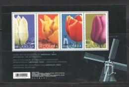 2002  Tulips - AMPHILEX 2002 Souvenir Sheet Of 4 Different Sc 1947 MNH - Ungebraucht
