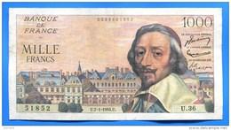 1000 Fr  Du 1/7/1954 - 1871-1952 Circulated During XXth