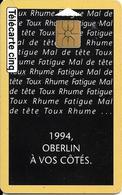 -CARTE-FRANCAISE-GN14-5U-GEMA-01/91-OBERLIN-1994-Série N°B4114002-VIDE-TBE - France