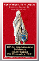 SUPER PIN'S Du BICENTENAIRE De La GENDARMERIE De PALAISEAU (Polytechnique) ZAMAC ARGENT 3D Arthus BERTRAND 2X3cm - Militares